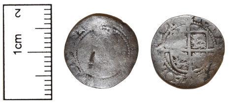 CAM-4CF4A0: Silver Hammered Coin probably Elizabeth I Halfgroat