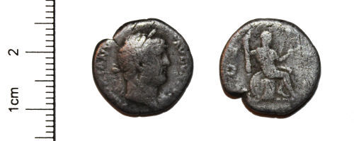 A resized image of Silver Roman Coin SM/PW to check