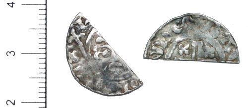 CAM-998537: Cut Silver Short-Cross Penny of Henry II or III