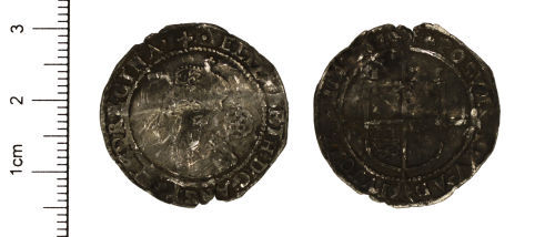 CAM-C4D306: Post-Medieval Coin: Silver Sixpence Coin of Elizabeth I