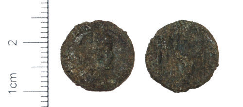 CAM-CCC056: Roman Coin : A copper-alloy nummus of the House of Constantine dating to the period AD 330 to 335