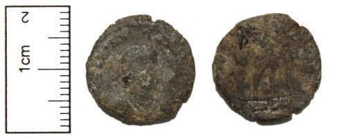 A resized image of Roman Coin : Copper-alloy Nummus of the House of Valentinian