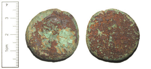 CAM-D97042: Copper-alloy Roman coin