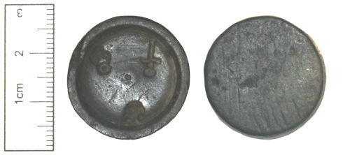 CAM-DF43F2: Post-Medieval Copper-alloy Weight