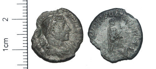 CAM-F68C43: Roman Coin : A silver denarius of Elagabalus dating to the period AD 218 to 222