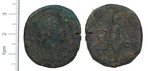 CAM-F6F4F0: Roman Coin : A Copper-alloy Sestertius of Severus Alexander dating to AD 232