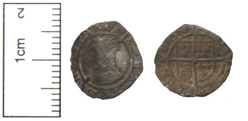 CAM-FB42E4: Post-Medieval Coin : A Silver Hammered Farthing of Elizabeth I
