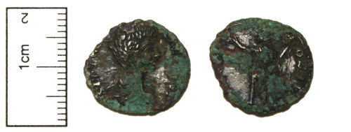 CAM-FB5461: Roman Coin : A base silver plated contemporary copy of a Denarius of Geta