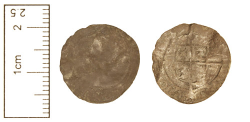CAM-0169E4: Post-Medieval coin : Threepence of Elizabeth I.