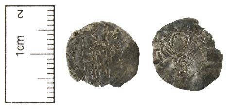 CAM-2E80E4: Medieval Venitian early soldino, probably of Michele Steno