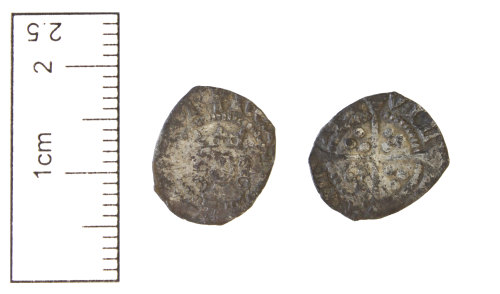 CAM-3953FD: Medieval coin : Silver halfpenny of Henry VI, first reign. Calais mint, annulet issue.