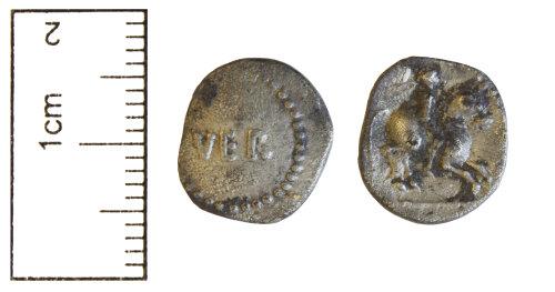 CAM-67B301: Iron Age silver unit of Tasciovanos. ABC.2625.