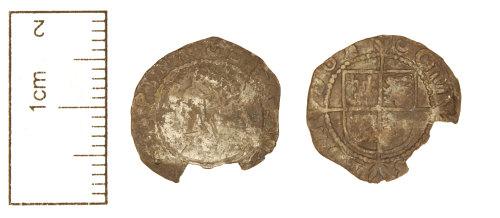 CAM-6DA25E: Post-Medieval coin : Halfgroat of Elizabeth I.