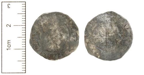 CAM-8945D7: Post-Medieval coin : Silver groat of Elizabeth I.