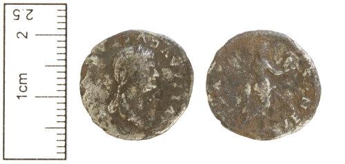 CAM-896D8A: Roman coin : Denarius of Julia Flavia.