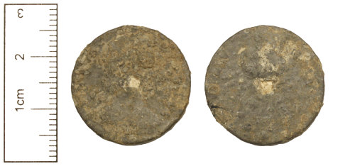 CAM-8C911C: Post-Medieval Coin : Tin Farthing of James II