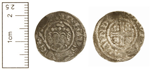CAM-90A512: Medieval Coin : Voided short cross penny