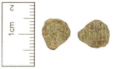 CAM-EDD877: Roman Coin : copper-alloy contemporary copy, c. AD 330-335, of a nummus of the House of Constantine, AD 307-361