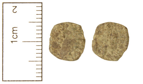 CAM-EDEB3B: Roman Coin : Copper-alloy contemporary copy, c. AD 355-361, of a nummus of the House of Constantine, AD 307-361