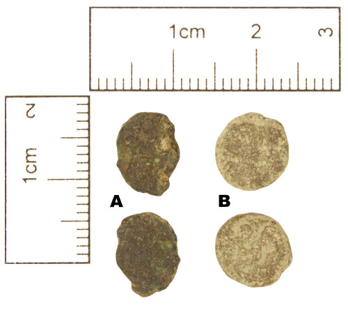 A resized image of Roman Coins : Two copper-alloy contemporary copies, c. AD 355-361, of the House of Constantine, AD 307-361
