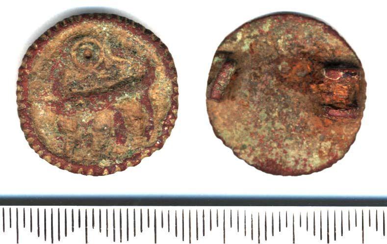 SF3964: Backward-looking animal Disc Brooch