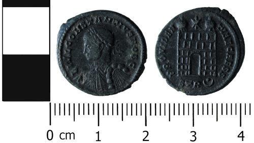 HESH-BE5B56: Roman Coin: Nummus of Constantinius II