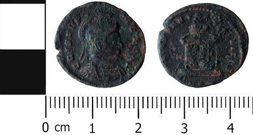HESH-BE92E3: Roman Coin: Nummus of Crispus