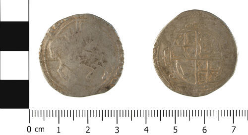 WMID-12E70D: Post Medieval Coin: Half Crown of Charles I