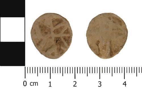 WMID-AF6C85: Late Medieval to Post Medieval: Lead Alloy Unifaced Token