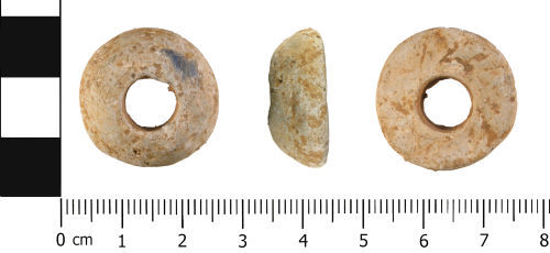 WMID-D1A19D: Roman to Post Medieval: Convex Spindle Whorl