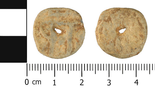 WMID-231EE9: Late Medieval to Post Medieval: Lead or Lead Alloy Unifaced token