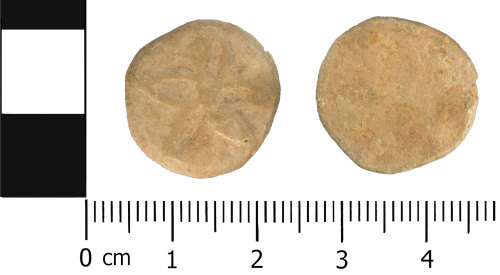 WMID-23C8BF: Late Medieval to Post Medieval: Lead or Lead alloy Unifaced token