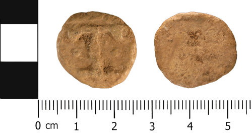 A resized image of Medieval to Post Medieval: Lead or Lead Alloy Unifaced Token