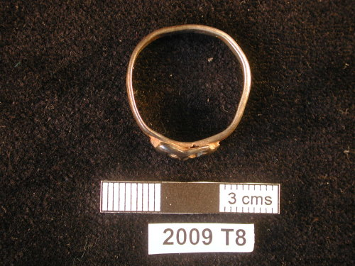 WMID-664D33: Silver gilt finger ring