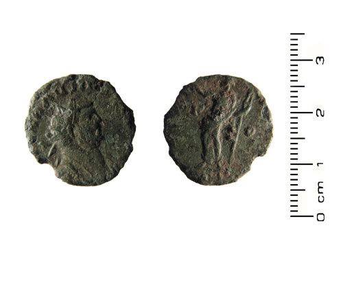 HESH-065835: Roman Coin: Copper alloy radiate probably of Carausius