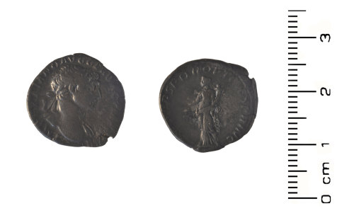 HESH-A0F196: Roman Coin: Silver denari of Trajan