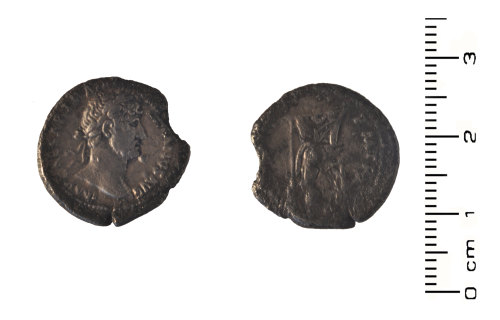 HESH-A15311: Roman Coin: Silver denari of Hadrian