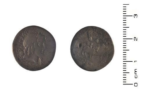 HESH-B589A0: Roman Coin: Republican Silver denarius of MN Fontei CF
