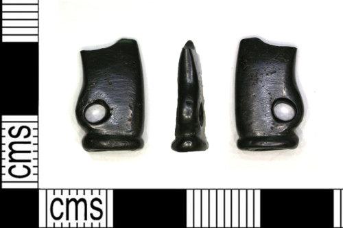 LEIC-436D57: Roman copper alloy votive axe
