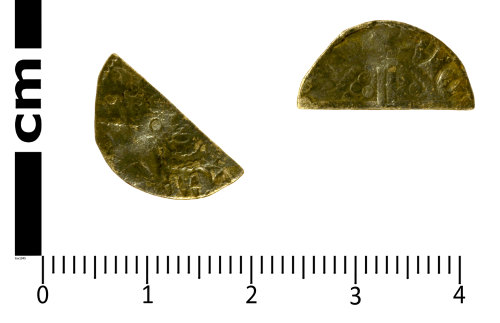 SWYOR-1D4E1E: Medieval Coin; cut half penny of Henry III, Class 5b or 5c