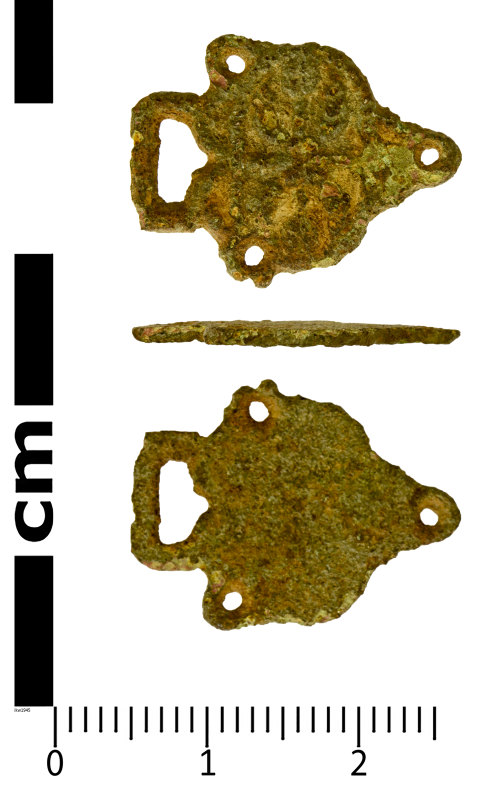 SWYOR-283E81: Post Medieval Dress fastener; eye piece