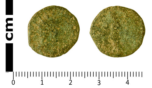 SWYOR-2CF854: Roman Coin; radiate of an uncertain ruler