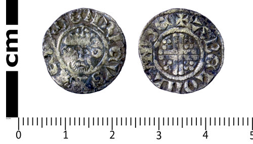 SWYOR-35C138: Medieval coin; penny of Henry III, Class 7a