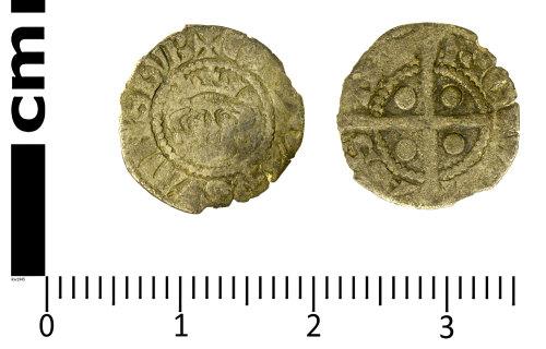 SWYOR-3DD76C: Medieval Half Penny of Edward I, Class 3e