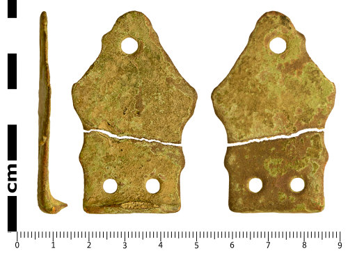 SWYOR-41051A: Early Medieval Stirrup strap mount of Williams Class A, Type 1