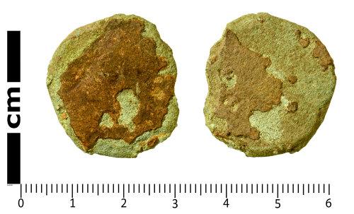 SWYOR-5F29A3: Roman Coin; illegible dupondius or as