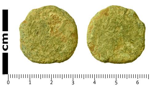 SWYOR-5F2FD6: Roman Coin; illegible sestertius