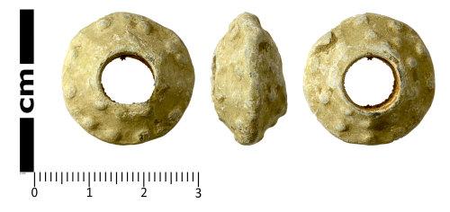 SWYOR-8B777A: Post Medieval spindle whorl; Walton Rogers Form C2