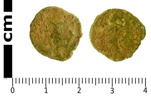 SWYOR-C924D8: Roman Coin; uncertain Gallic radiate