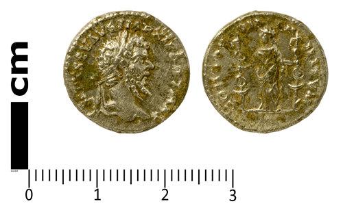SWYOR-D2A4EC: Roman Coin; denarius of Septimius Severus